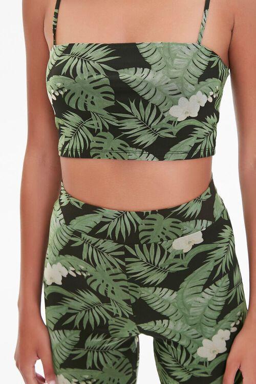 Tropical Leaf Biker Shorts, image 6