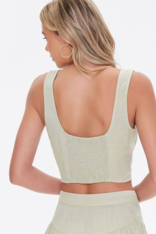 Cropped Button-Front Tank Top, image 3