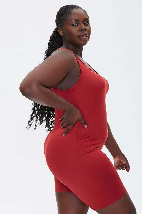 Plus Size Fitted Tank Romper, image 2