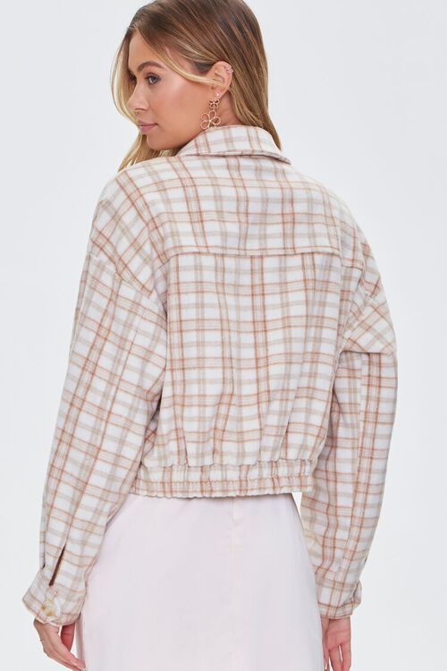 CREAM/MULTI Plaid Button-Front Jacket, image 3