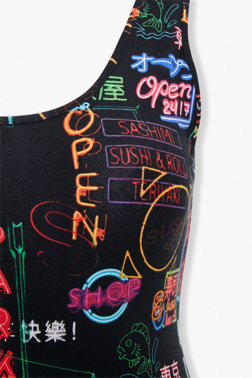 Plus Size Neon Sign Bodysuit, image 4