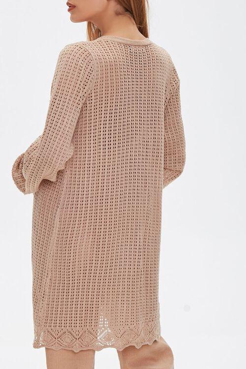 TAUPE Geo Cutout Cardigan Sweater, image 3