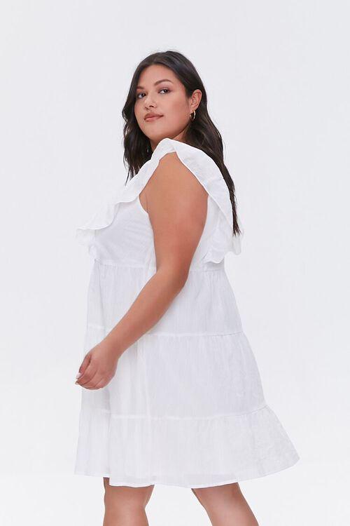 Plus Size Ruffle-Trim Mini Dress, image 2