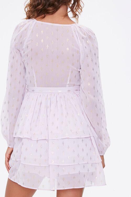 Diamond Print Mini Dress, image 3