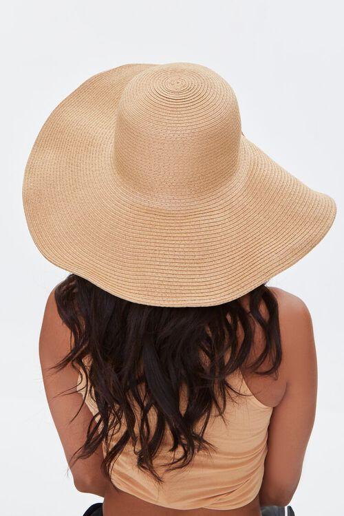 NATURAL Floppy Straw Hat, image 2