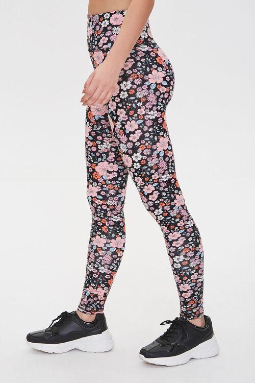 Active Floral Print Leggings, image 3