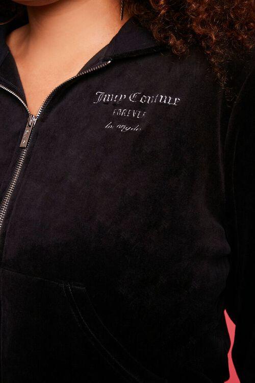 Plus Size Juicy Couture Velour Zip-Up Jacket, image 6