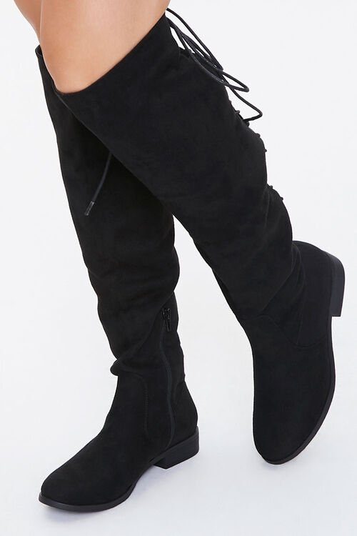 Lace-Up Knee-High Boots, image 1