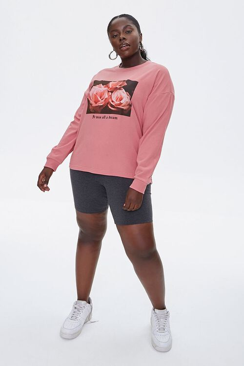 Plus Size Floral Long-Sleeve Tee, image 4