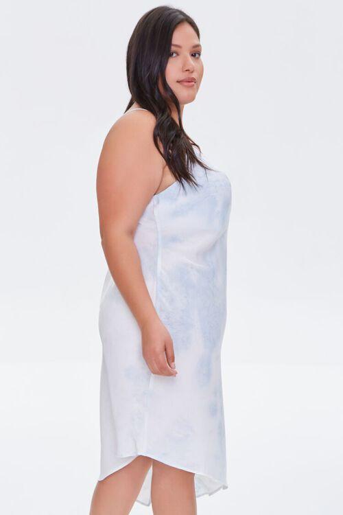 Plus Size Satin Tie-Dye Dress, image 2