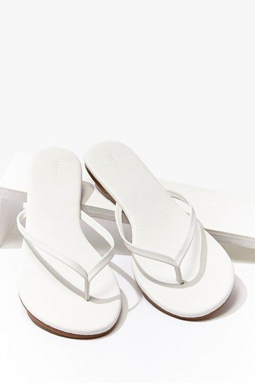 Faux Leather Flip Flops, image 3