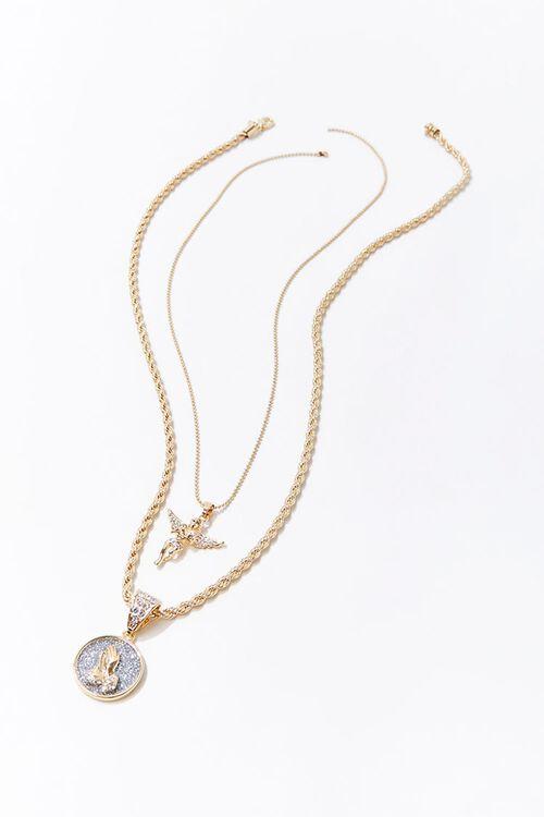 Praying Angel Pendant Necklace Set, image 2
