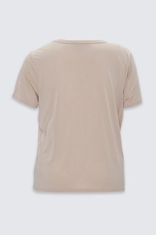 Plus Size V-Cutout Crew Neck Tee, image 2