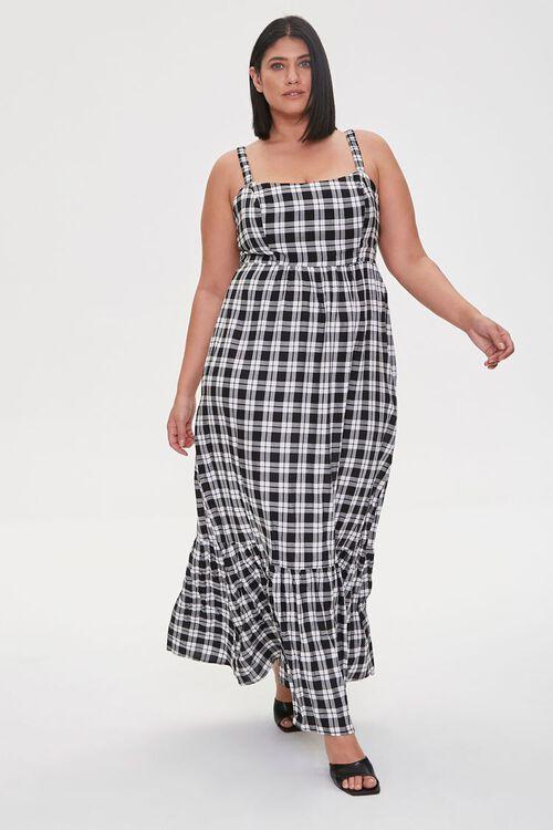 Plus Size Plaid Maxi Dress, image 1