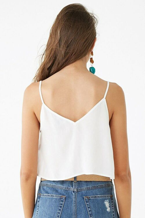 Scoop Neck Button-Front Cami, image 3