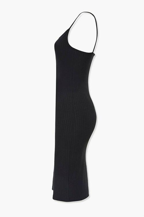 BLACK Ribbed Bodycon Dress, image 2