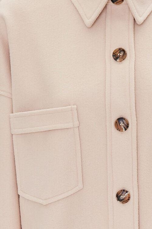 Drop-Shoulder Button-Front Shacket, image 4