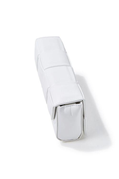 Faux Leather Crosshatch Crossbody Bag, image 2