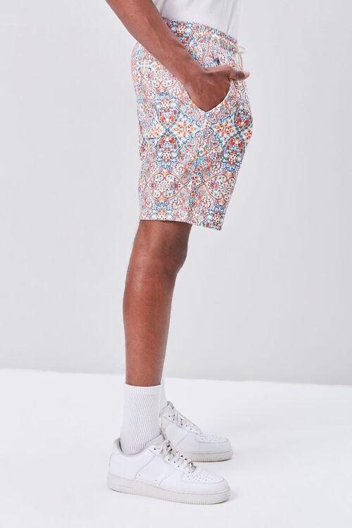 Ornate Print Drawstring Shorts, image 3