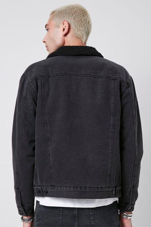 Faux Shearling Denim Jacket, image 3