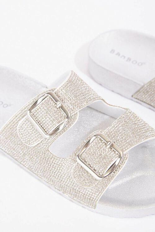 Metallic Dual-Strap Sandals, image 3