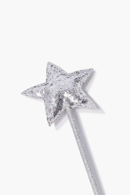 SILVER Glittered Star Wand, image 2
