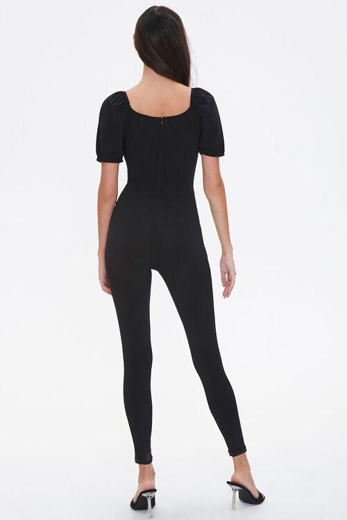 Scoop Puff-Sleeve Jumpsuit, image 3