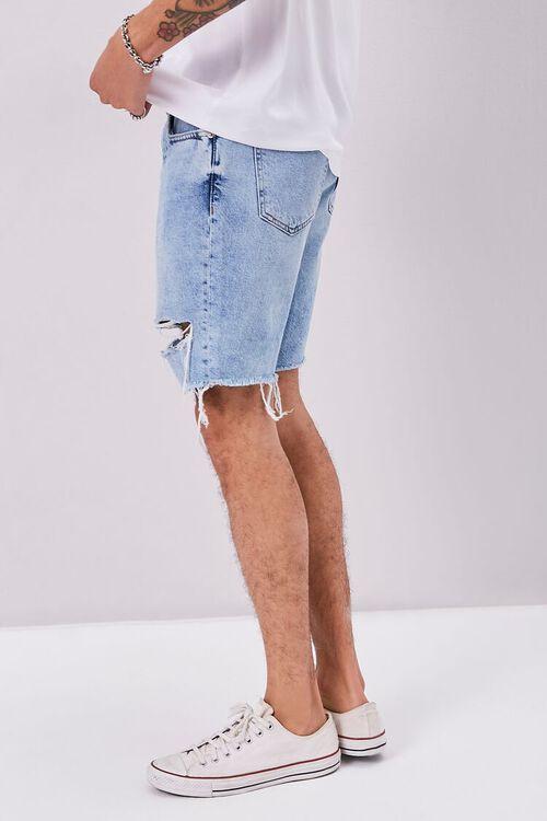 Frayed Distressed Denim Shorts, image 3