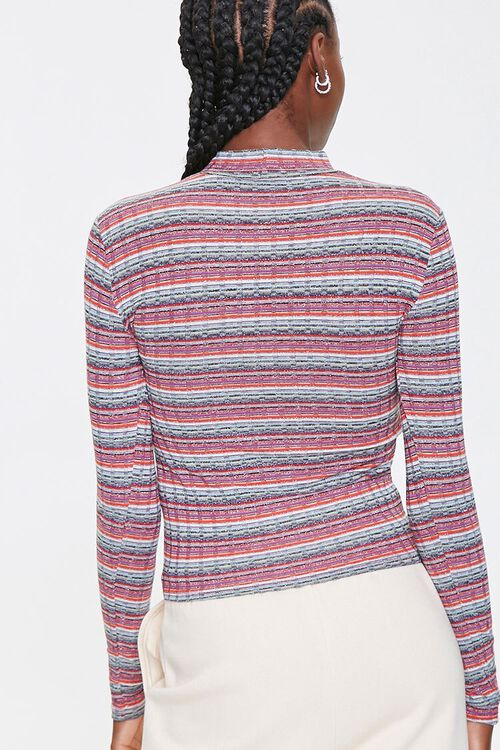 Striped Waffle Knit Top, image 3