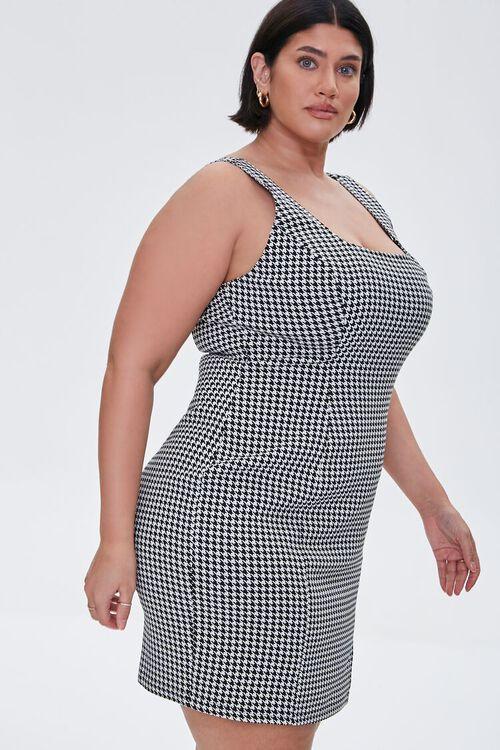 Plus Size Houndstooth Mini Dress, image 2