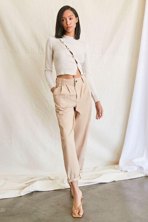 Sweater-Knit Asymmetrical Top, image 4