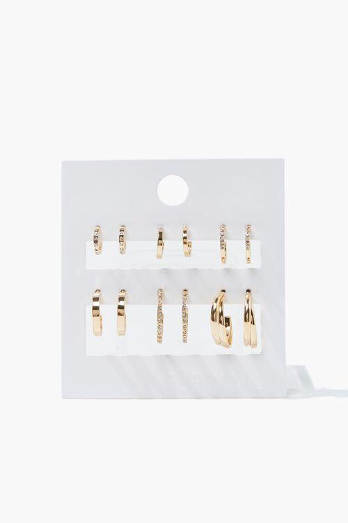 Rhinestone Hoop Earring Set, image 1