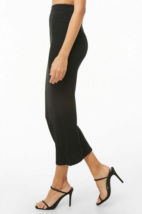 Ribbed High-Rise Midi Skirt, image 2