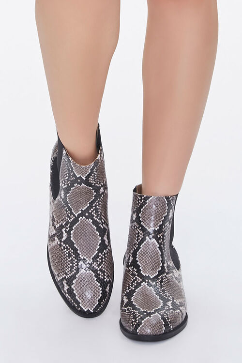 Faux Snakeskin Chelsea Boots, image 4