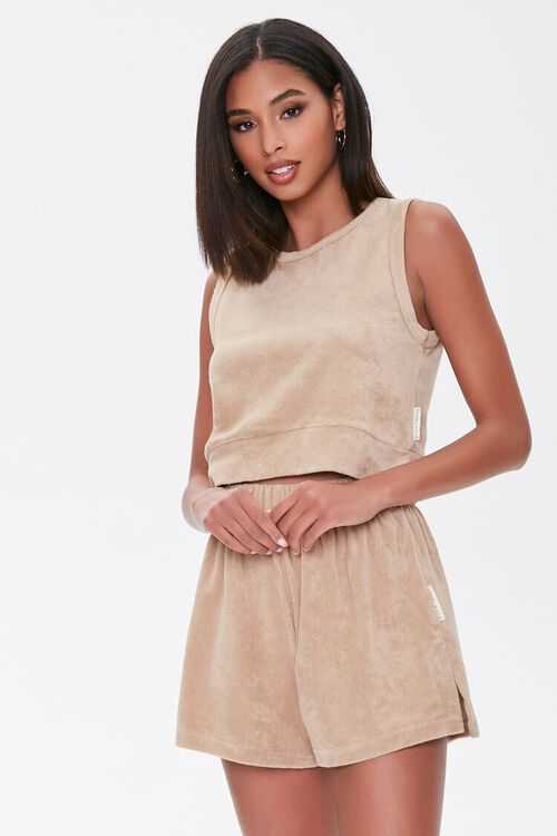 Kendall & Kylie Terrycloth Elastic Shorts, image 1