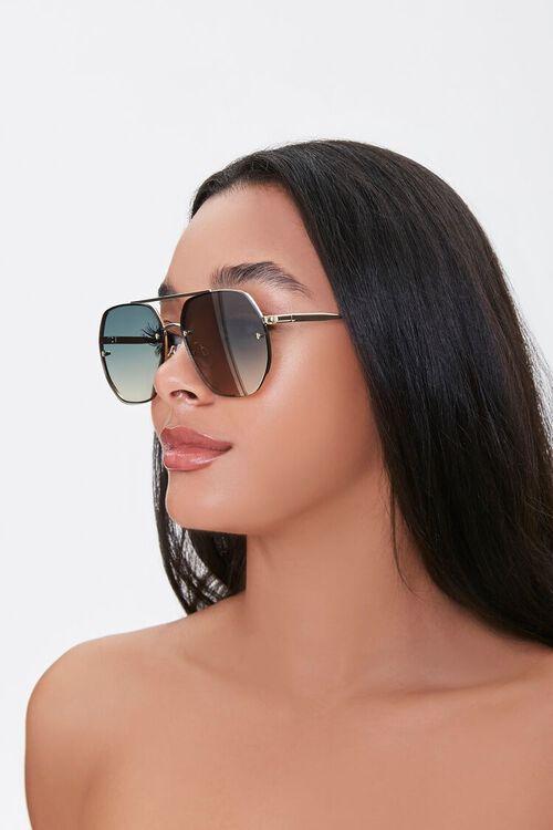 Mirrored Aviator Sunglasses, image 1