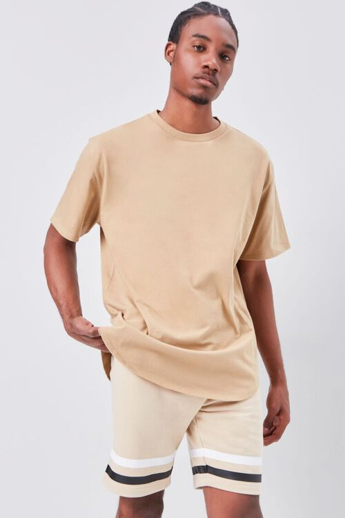 Striped-Trim Drawstring Shorts, image 6