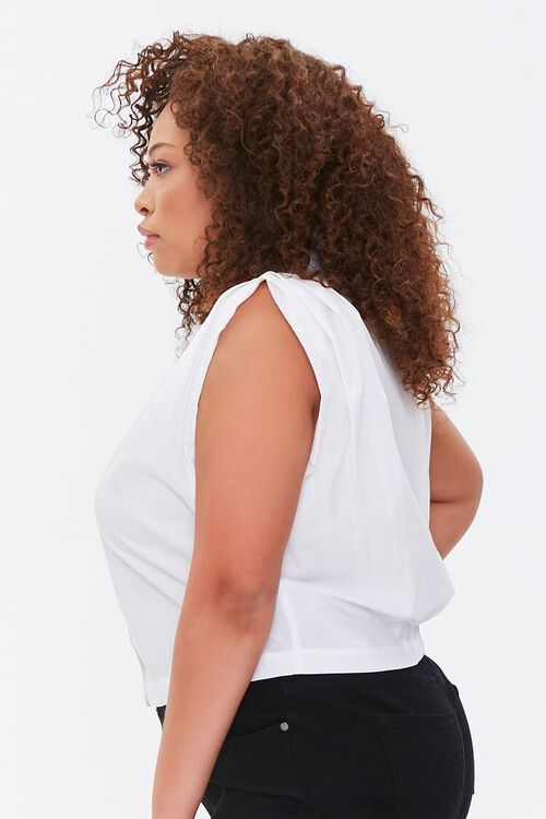 Plus Size Cap-Sleeve Shirt, image 2