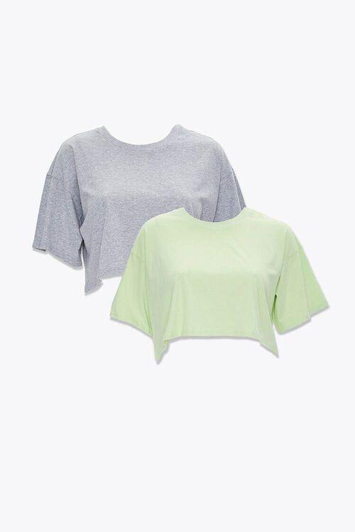Plus Size Cotton Crew Tee Set, image 1