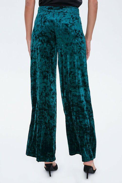 HUNTER GREEN Crushed Velvet High-Rise Flare Pants, image 4