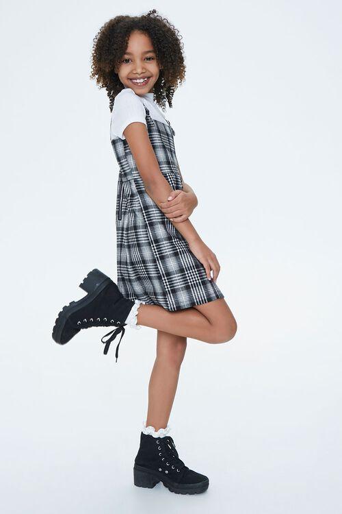Girls Plaid Pinafore Dress (Kids), image 3