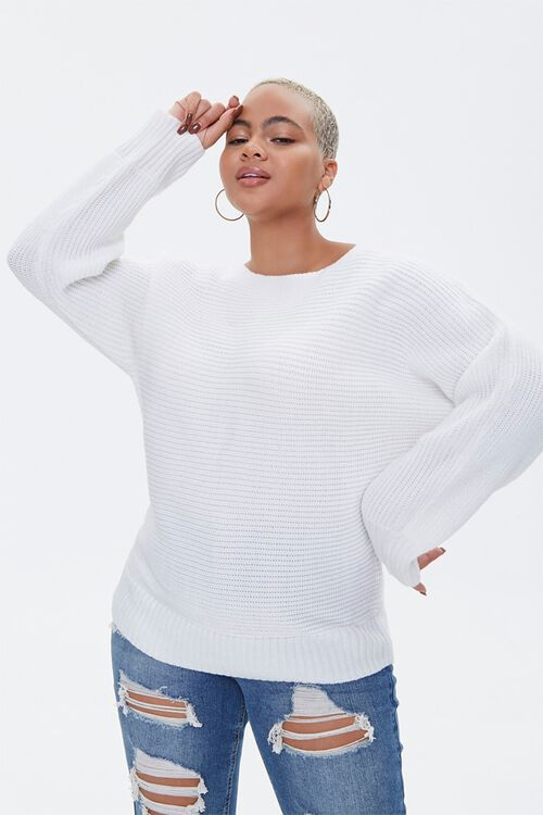 Plus Size Ribbed Knit Sweater, image 1