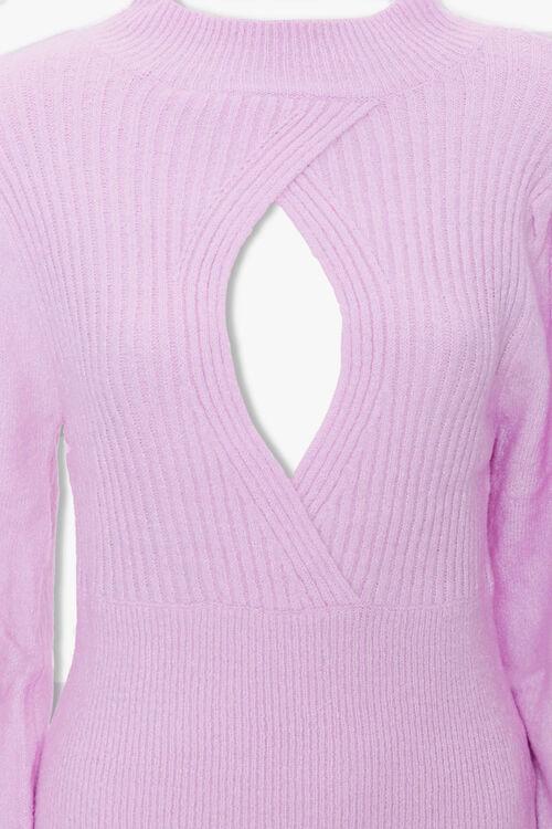 Ribbed Surplice Cutout Sweater, image 3