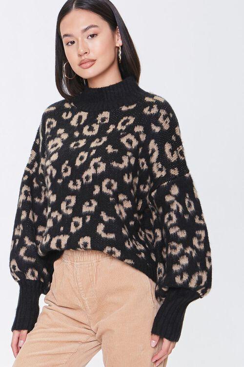 Fuzzy Leopard Print Sweater, image 5