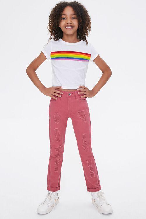Girls Distressed Cuffed Pants (Kids), image 5