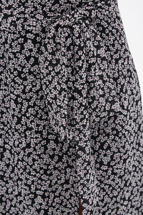 Floral Tie-Waist Midi Skirt, image 5