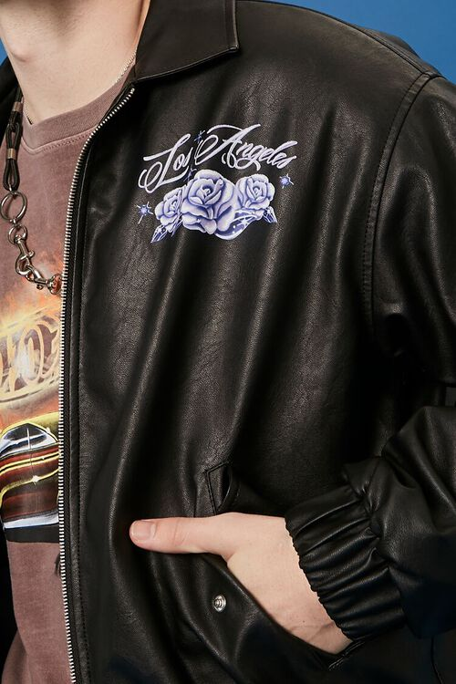 Hot Wheels Graphic Faux Leather Jacket, image 6