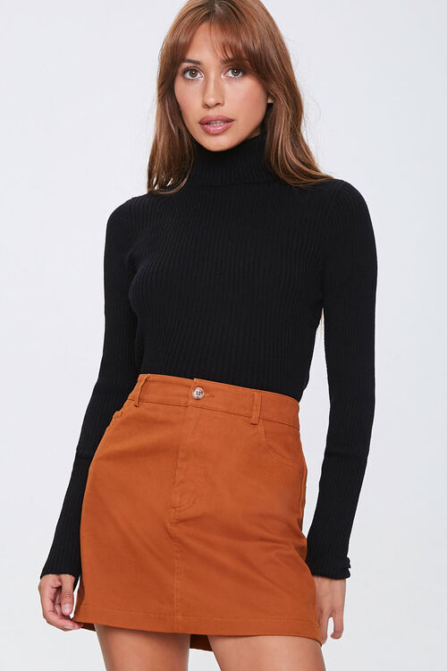 Ribbed Turtleneck Sweater, image 1