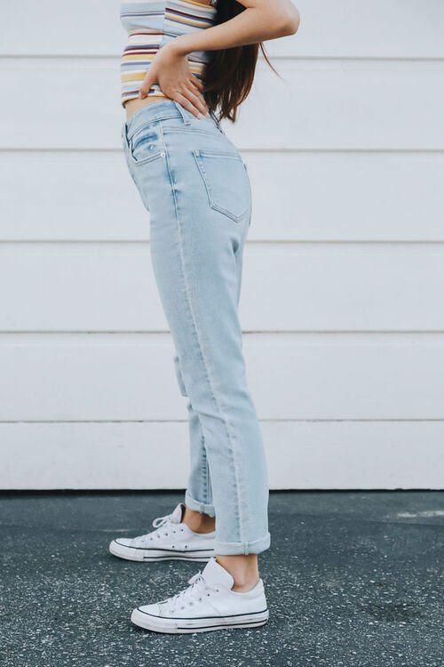 Button-Fly Mom Jeans, image 3