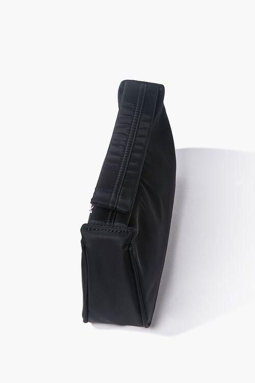 BLACK Zippered Shoulder Bag, image 2